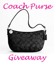 WINNER ANNOUNCED!!!  Coach Purse Giveaway!!!