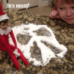 Our Elf on the Shelf is NUTS!
