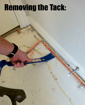 removing the tack board