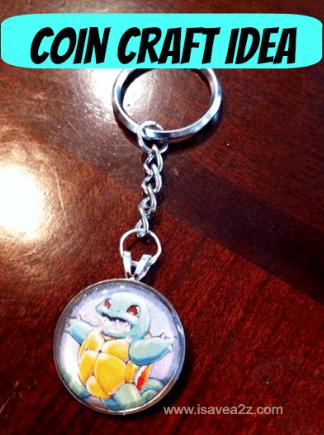coin key chain craft