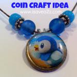 Coin Craft Necklace or Keychain (Pokemon Art Craft)
