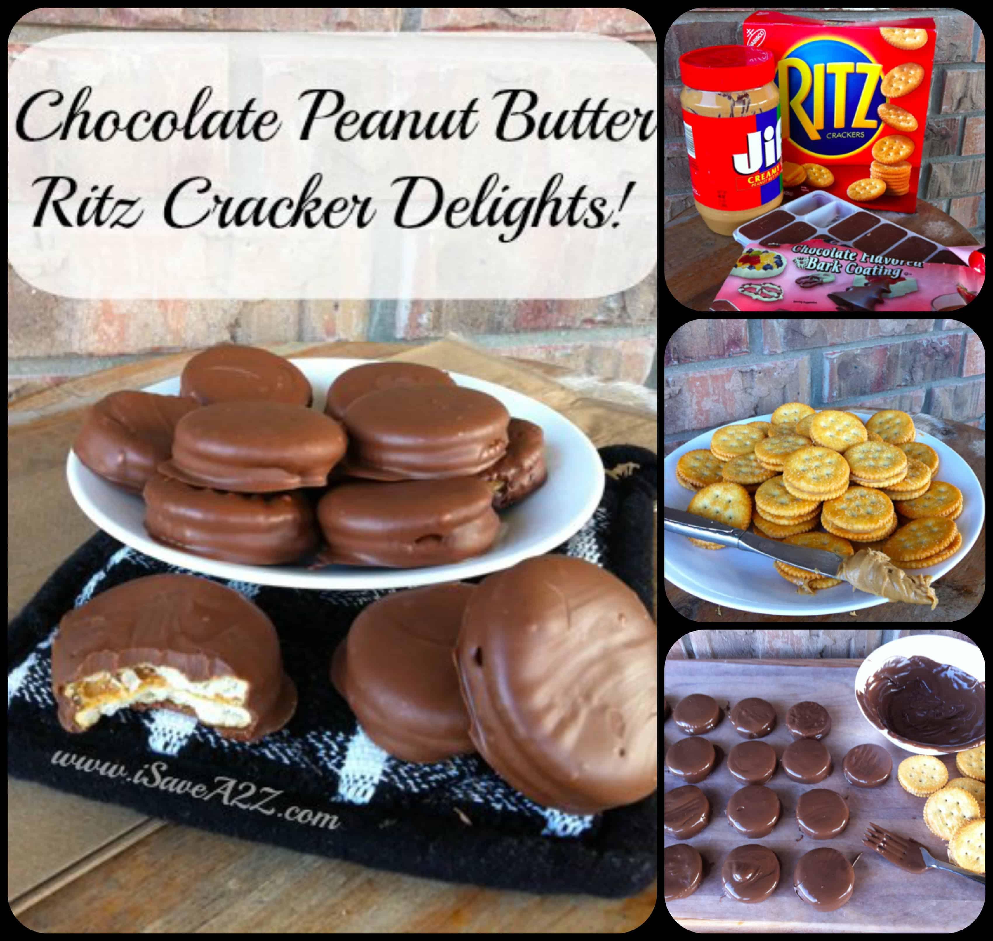 Ritz Cracker Peanut Butter Chocolate Dipped Cookies