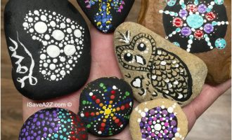 Hand Painted Rock Designs (teaching opportunity for kids)