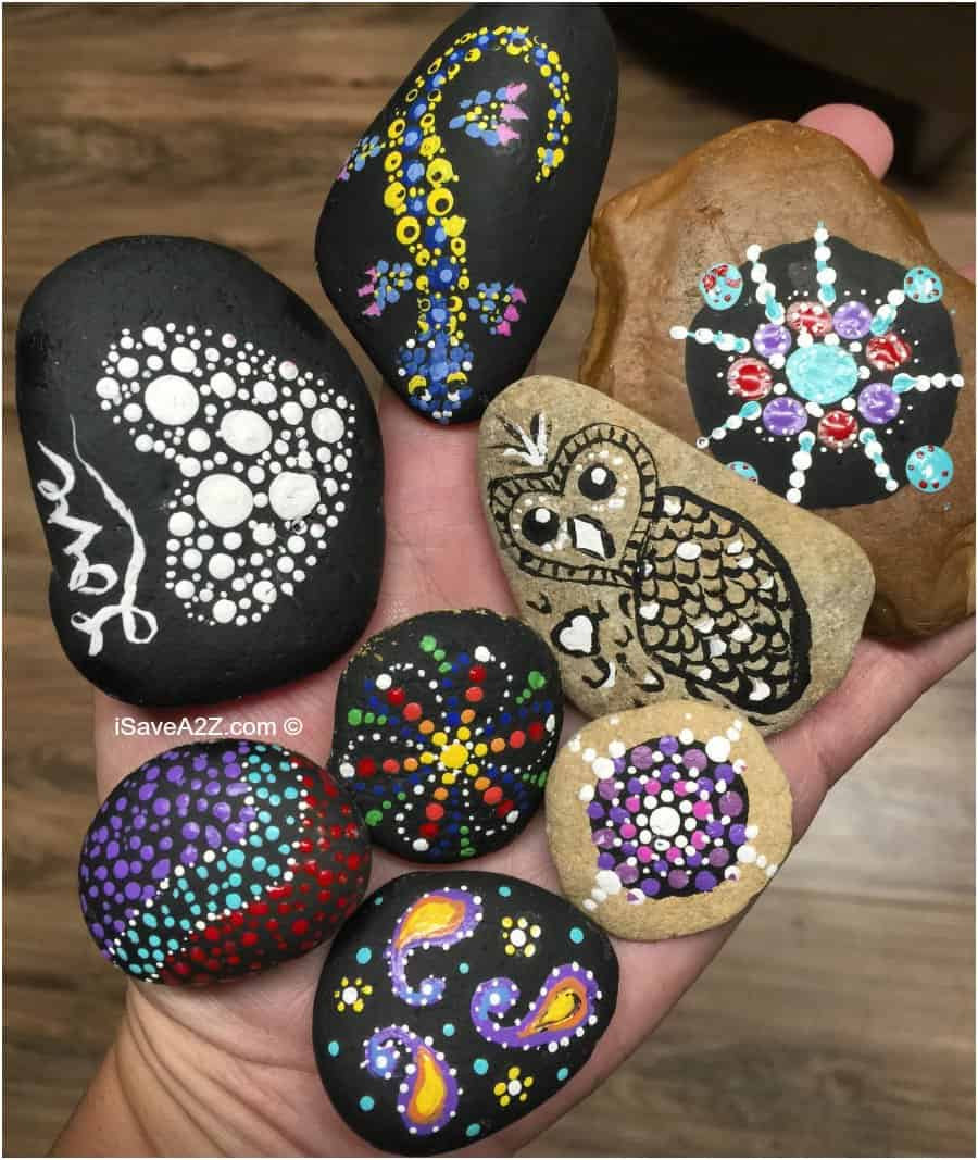 Hand Painted Rock Designs teaching Opportunity For Kids