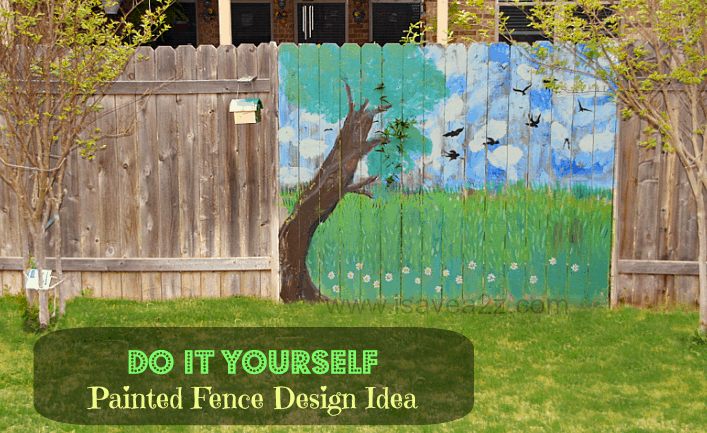 Painted Fence Ideas