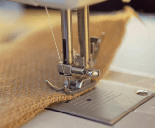 how to sew burlap material