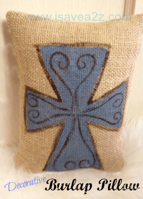 how to make a burlap pillow