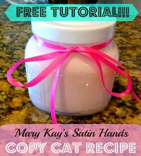 Satin Hands Recipe