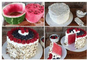 No Bake Watermelon Cake Recipe