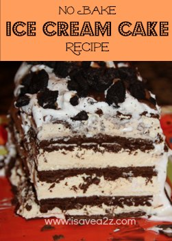 no bake ice cream cake recipe