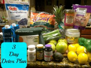 Detox Diet Drink 3 day plan