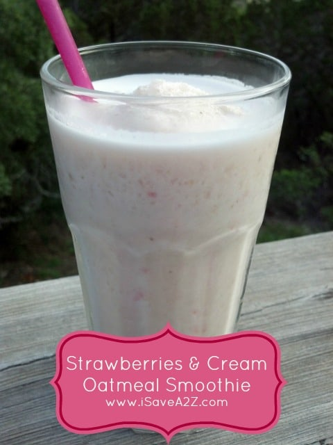 Oatmeal Smoothie Recipe: We did it with Strawberries and
