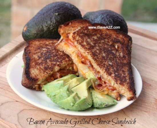 Bacon Avocado Grilled Cheese Sandwich - iSaveA2Z.com