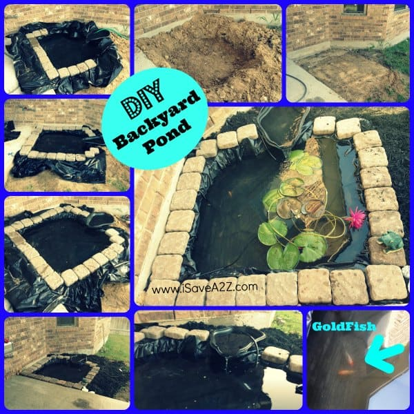 Easy Backyard Pond Ideas : DIY Easy Backyard Pond Design Idea  iSaveA2Zcom