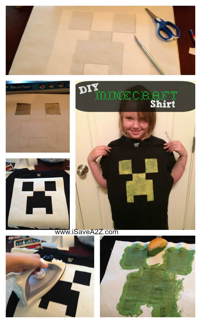 DIY Minecraft Creeper Shirt Tutorial