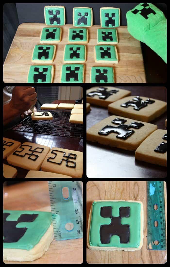 Easy Minecraft Creeper Sugar Cookies