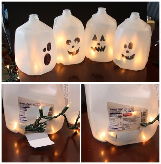 Halloween Milk Jub Ghosts Project