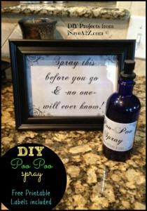 DIY Poo Poo Bathroom Spray (Printable Labels Included)