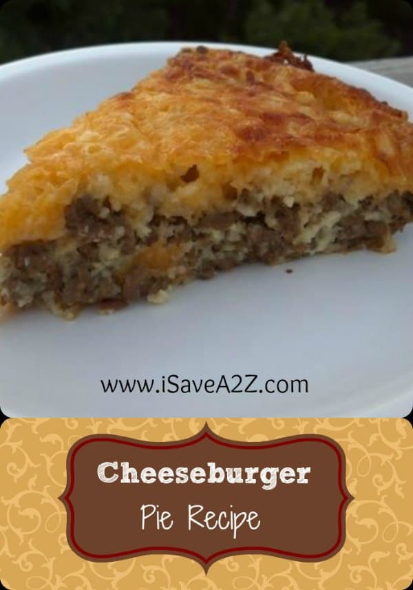 easy cheeseburger pie recipe