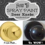 How To Spray Paint Door Knobs