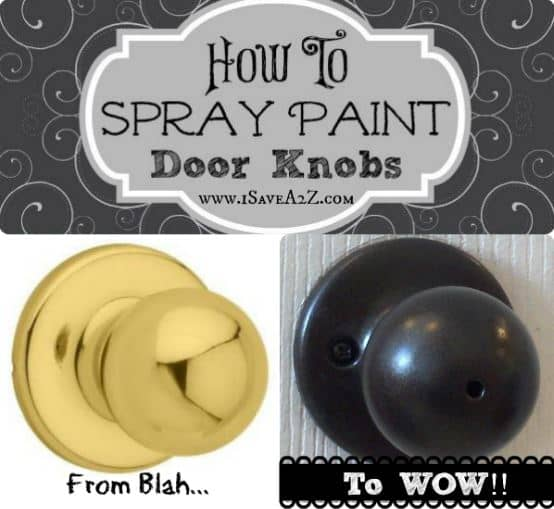 how to spray paint door knobs. Black Bedroom Furniture Sets. Home Design Ideas