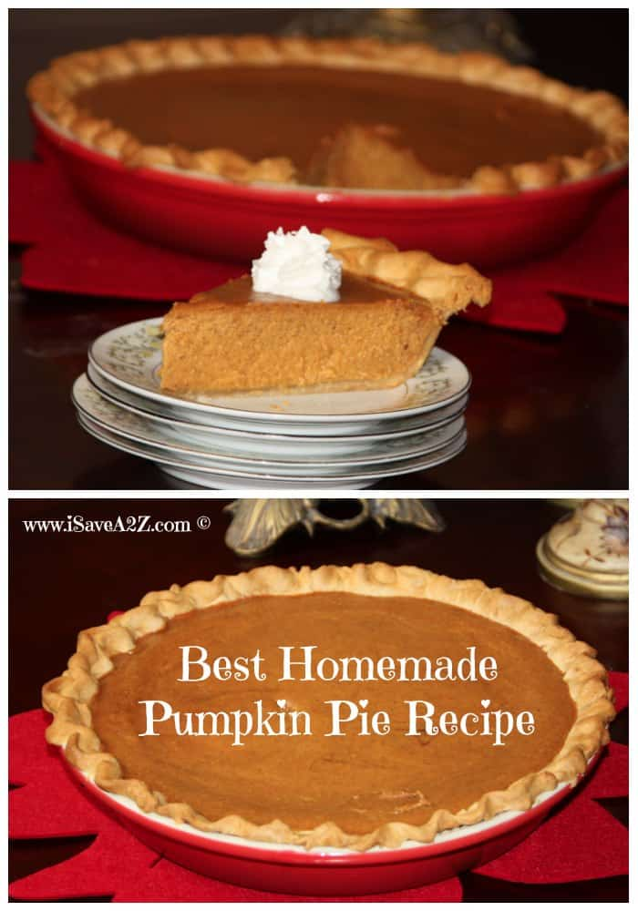 Super Easy and Part Homemade Pumpkin Pie Recipe - iSaveA2Z.com