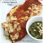 Cheese Crusted Chicken Spinach Crepes Recipe
