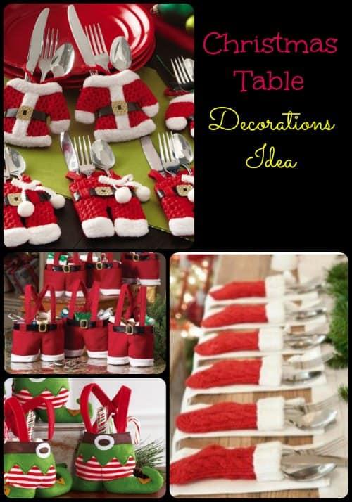 Christmas Table Decoration Ideas  iSaveA2Zcom