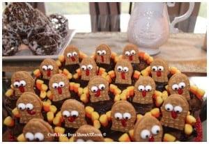Easy Turkey Cupcakes Idea