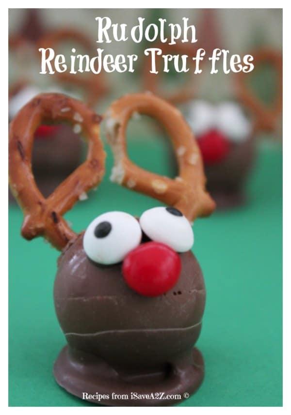 Easy Christmas Treats Idea: Rudolph Reindeer Truffles - iSaveA2Z.com