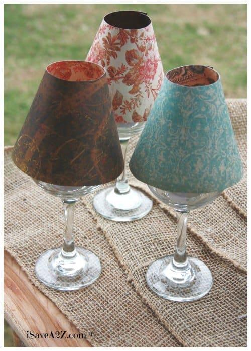 Wine Glass Lamp Shade Diy Project Isavea2z Com