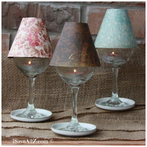 Christmas decorations using paper plates - Wine Glass Lamp Shade Diy Project Isavea2z Com