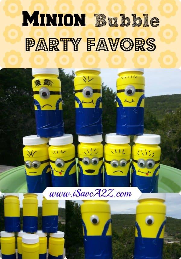 minion bubble party favors