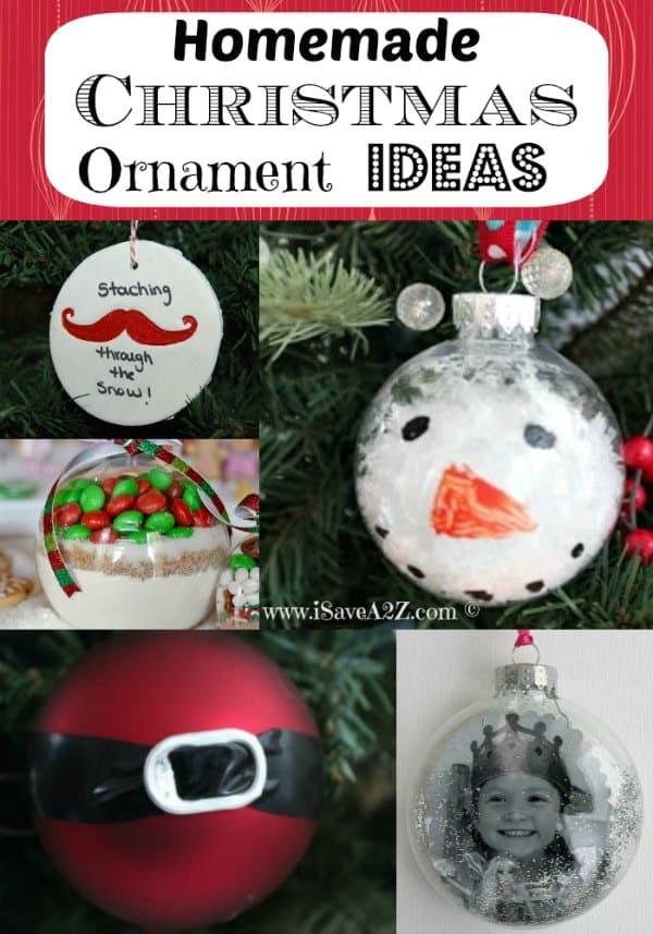 Homemade Christmas Ornament Ideas Love These Simple Ideas