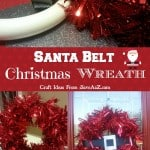 Santa Belt Christmas Wreath
