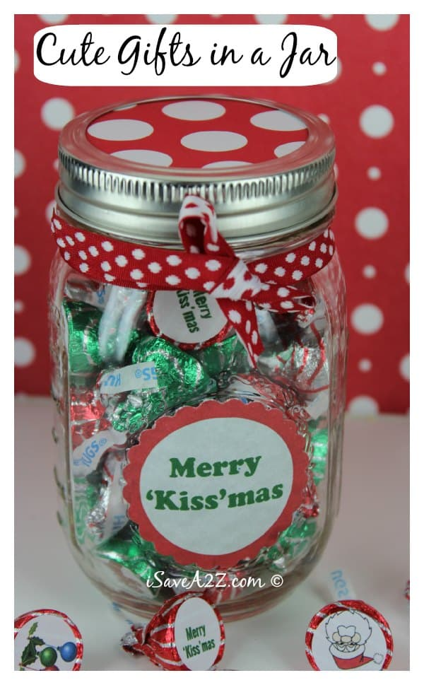 Unique handmade christmas gifts 39 kiss 39 mas gift in a jar for Unique ideas for christmas gifts