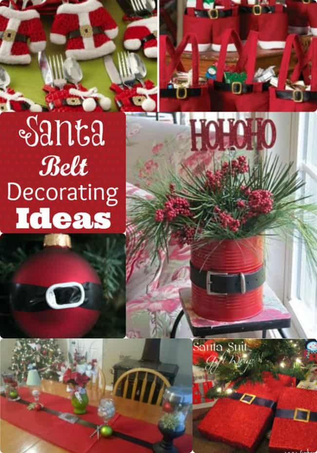 Santa Belt Decorating Ideas Decorate Inside And Out