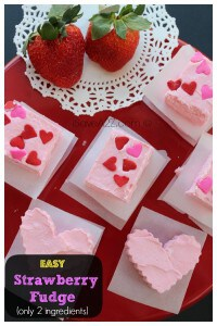 Easy Strawberry Fudge Recipe @iSaveEveryday #Fudge #recipe