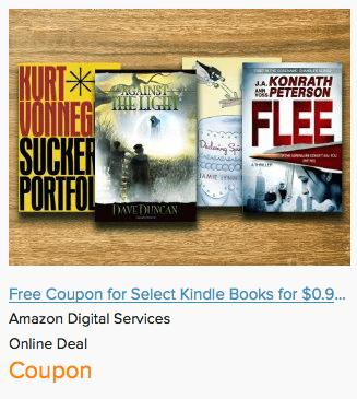 Online coupons amazon books