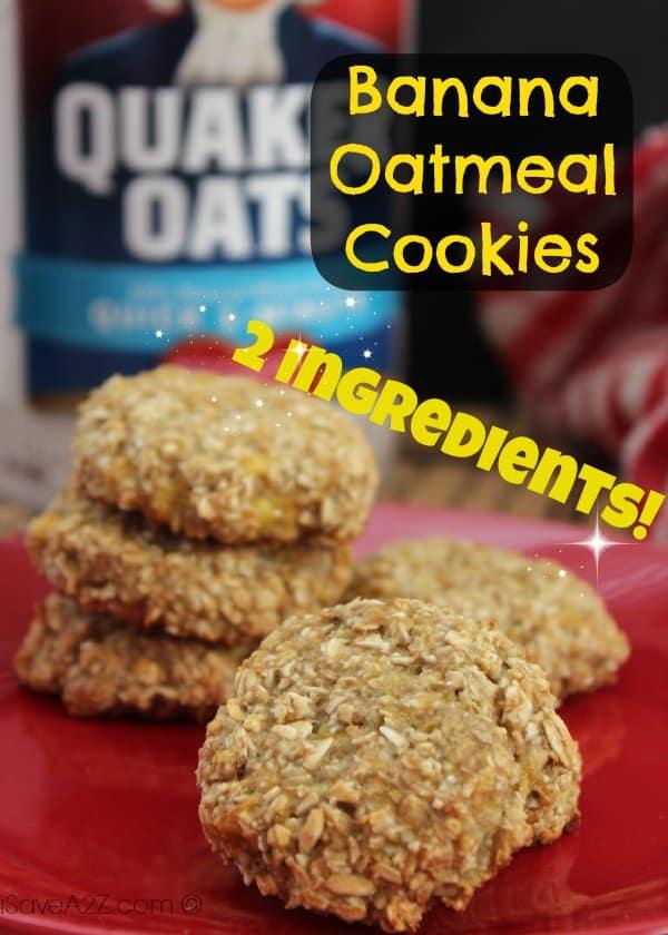Banana Oatmeal Cookies Recipe - iSaveA2Z.com
