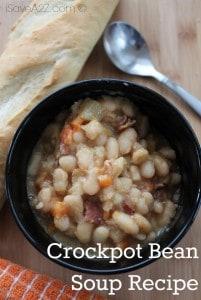 Crockpot Bean Soup Recipe