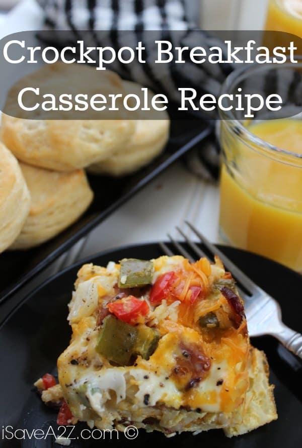 Crockpot breakfast casserole recipe for Crockpot breakfast casserole recipes