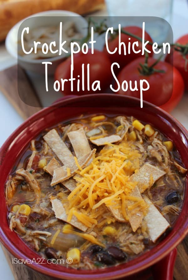 Crockpot Chicken Tortilla Soup With Black Beans & Corn (Slow Cooker ...