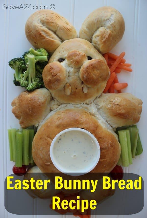 Easter Bunny Bread Recipe - iSaveA2Z.com