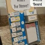 DIY: Magnetic Menu Board