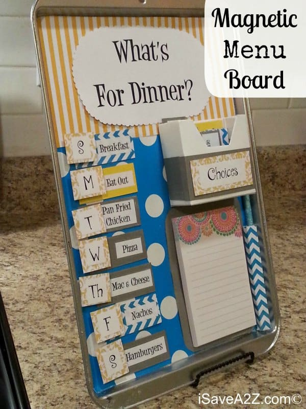 Magnetic Menu Board!! Easy craft to do and so useful!!