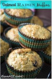 Weight Watchers Oatmeal Raisin Muffins