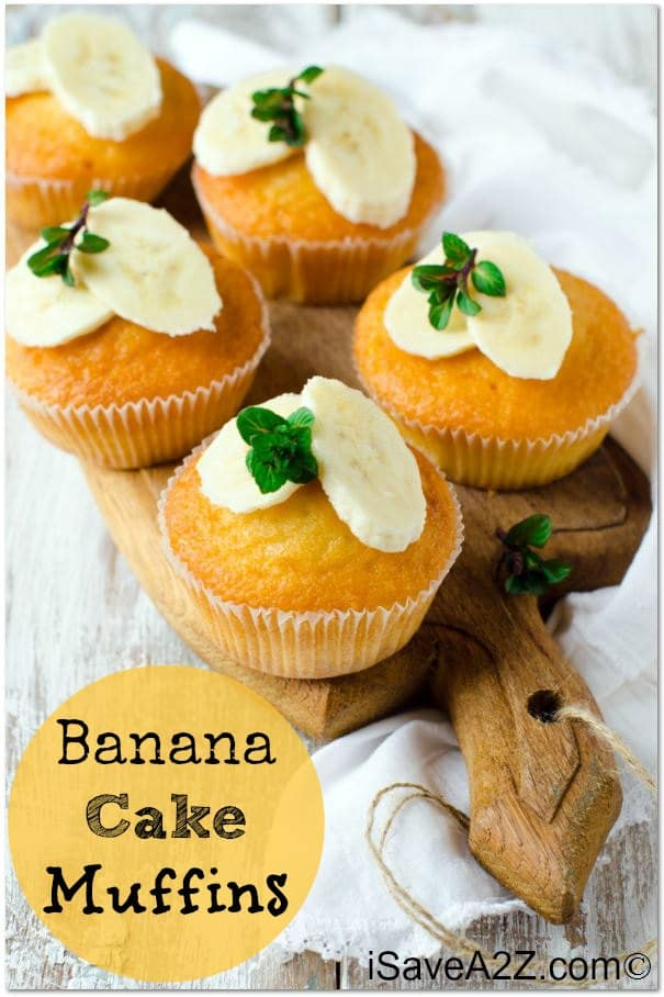 Banana Cake Muffins Recipe - Quick and easy!!
