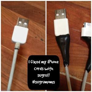 sugru iphone cord fix