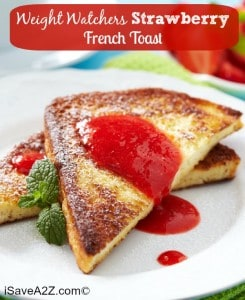Weight Watchers Strawberry French Toast